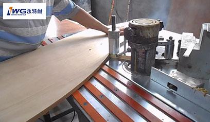 【视频】永特耐热熔胶封边胶异性封边作业现场